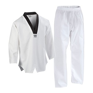 Black V-Neck Collar TaeKwonDo Uniform