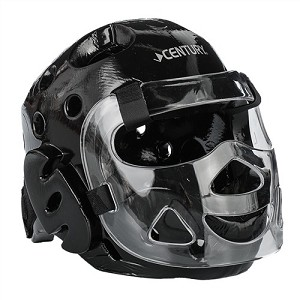 Black Full Sparring Headgear with Face Shield