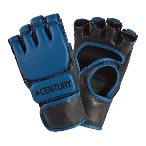 Blue Open Palm MMA Gloves