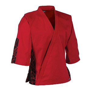 Red with Black Electric EasyFit Traditional Uniform Top