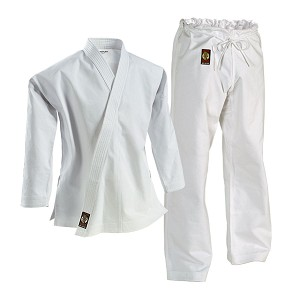 Ironman White Heavyweight Karate Uniform