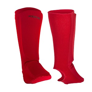 MMA Shin Instep Pads - Red