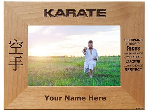 Karate Picture  Frame Personalized Gift