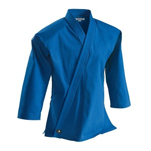 Blue 8 oz. Traditional Karate Jacket Top Brushed Cotton