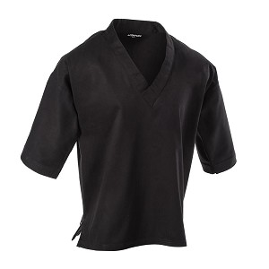 Black 8 oz V-Neck Pullover Karate Top