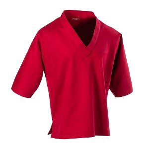 Red 8 oz V Neck Pullover Karate Gi Top