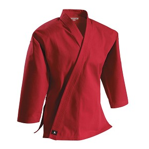 Red Super Middleweight 10 oz Brushed Cotton Traditional Karate Jacket