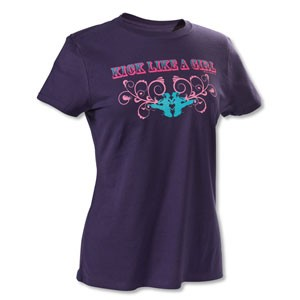 Kick Like A Girl Swirl Martial Arts Tee