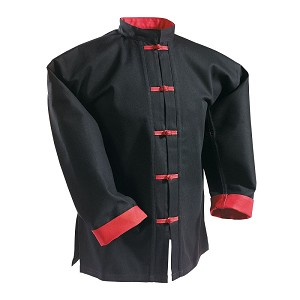 Kung Fu Uniform Top Red Buttons