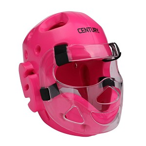 Neon Pink Full Sparring Headgear with Face Shield