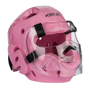 Pink Full Sparring Headgear with Face Shield