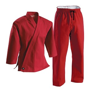 Red Super Middleweight Brushed Cotton Martial Arts Uniform