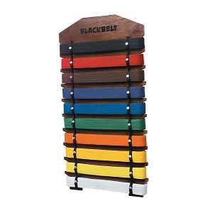 Ten Level Martial Arts Belt Display - Walnut
