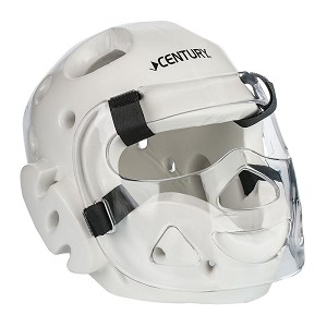 White Full Sparring Headgear with Face Shield