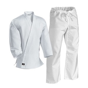 White Middleweight Student Uniform with Drawstring Pant