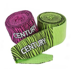 Century Zebra Print Cotton Hand Wraps - 108 Inches